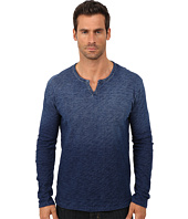 Lucky Brand - Indigo Long Sleeve Notch Neck Tee