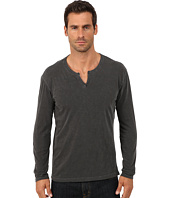 Lucky Brand - Long Sleeve Notch Neck Tee