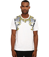 Versace Collection - Placed Print T-Shirt with Gold Baroque Detail