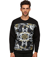 Versace Collection - Scuba Sweatshirt w/ Silk Front Pattern