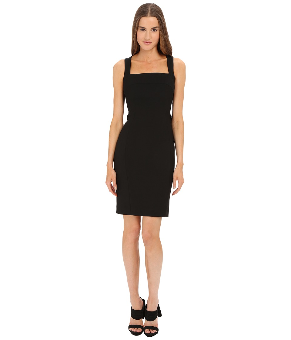 Versace Collection Dress w/ Back Fringe Detail Black Womens Dress