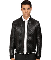 Versace Collection - Textured Leather Jacket