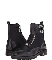 Versace Collection - Nylon Leather Combat Boot