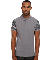 Versace Jeans - Polo with Contrast Printed Sleeves