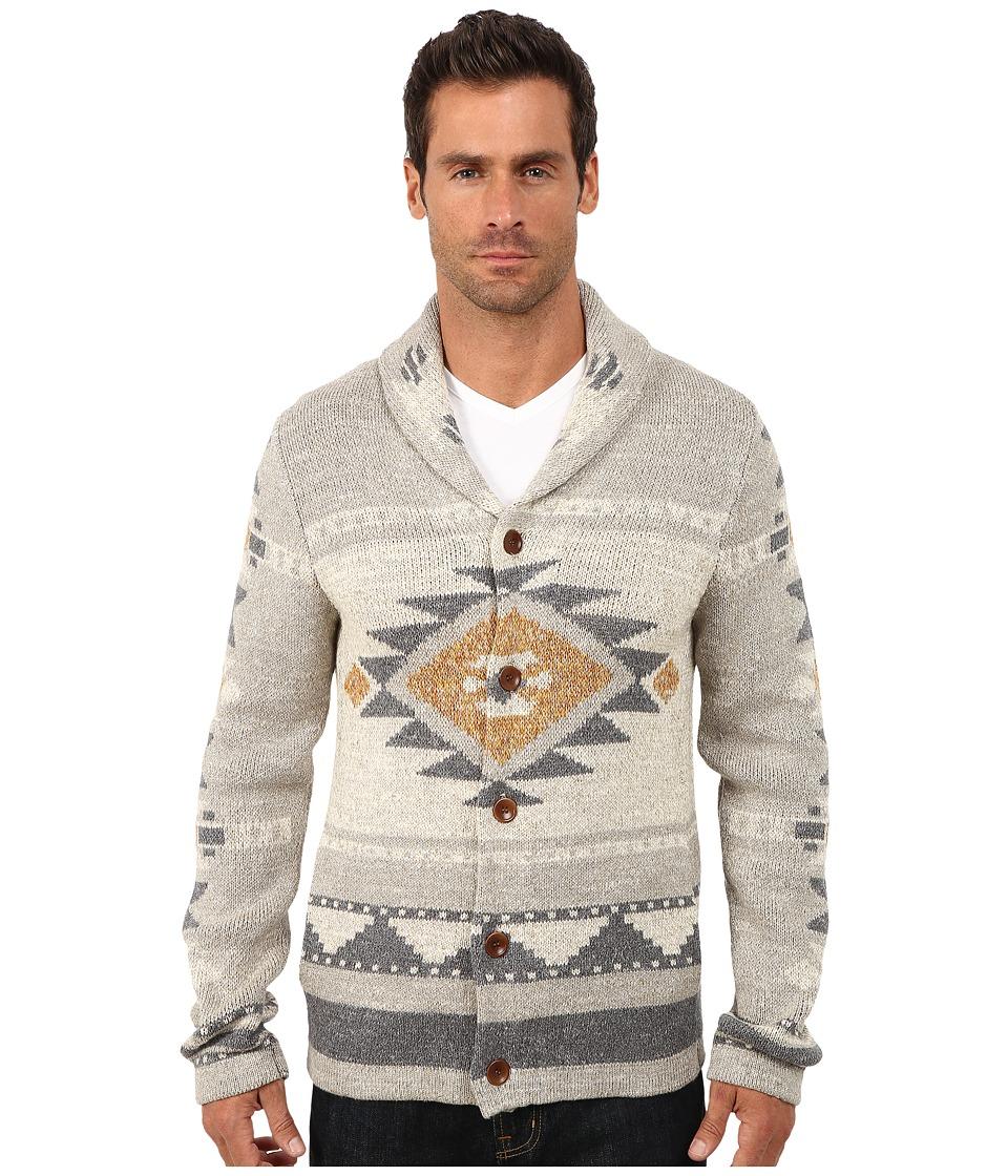 Lucky Brand - Mulhoulland Shawl Cardigan Multi Mens Sweater $149.00 AT vintagedancer.com