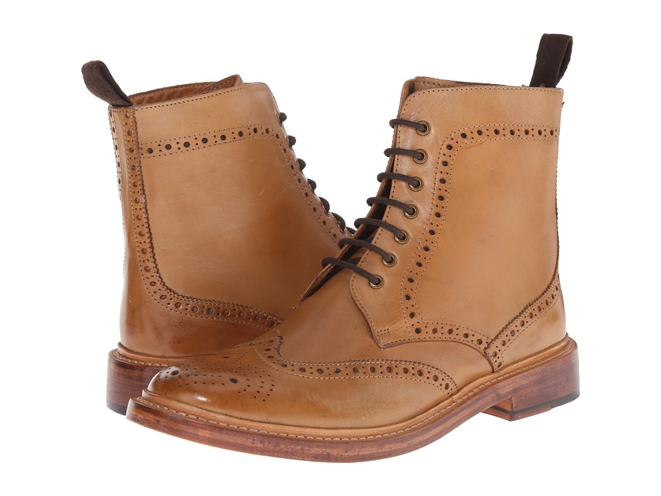 Lotus Dunford Burnished Tan Leather Mens Lace up Boots