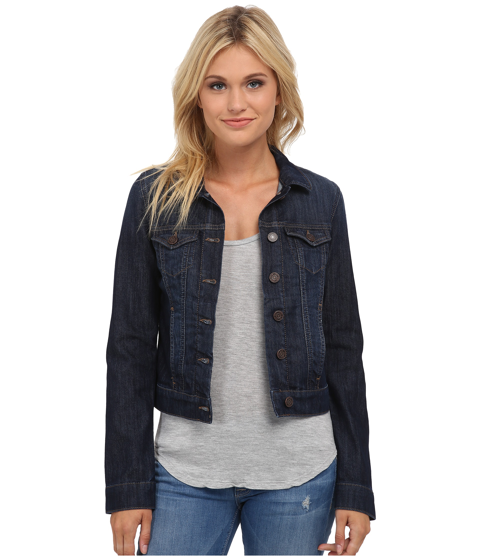 Mavi Jeans Samantha Denim Jacket in Dark Nolita - Zappos.com Free ...