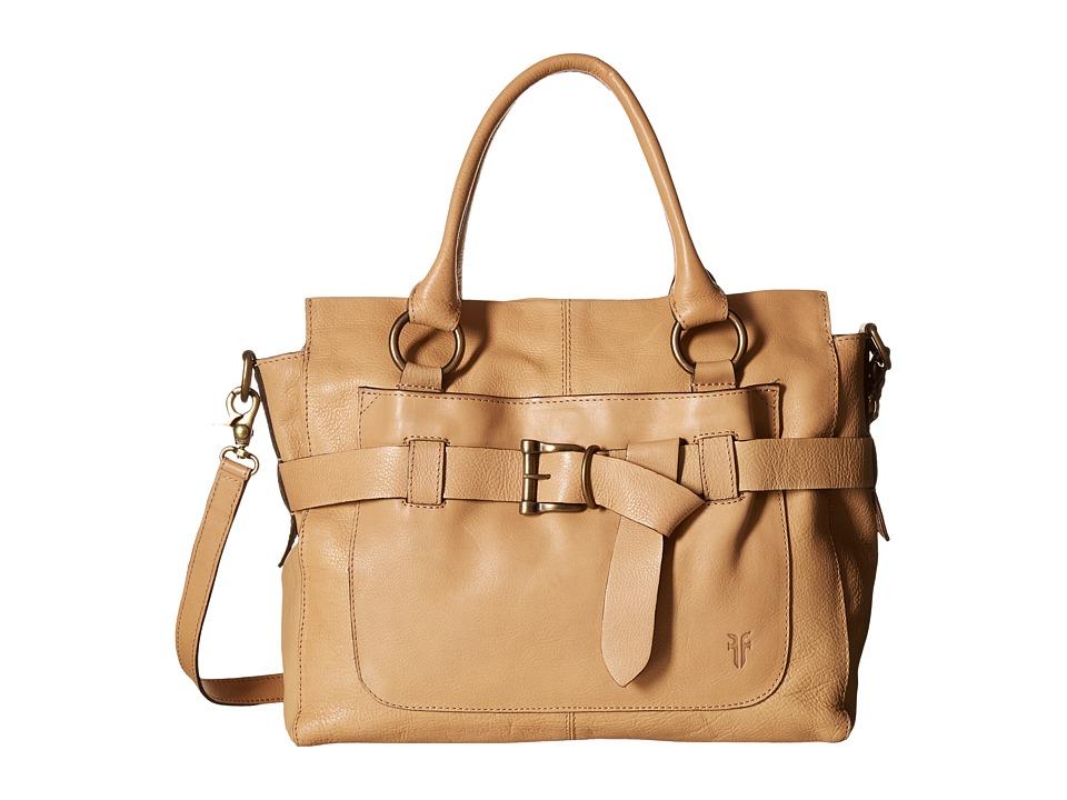 Frye - Kayla Knotted Satchel (Beige Tumbled Full Grain) Satchel Handbags
