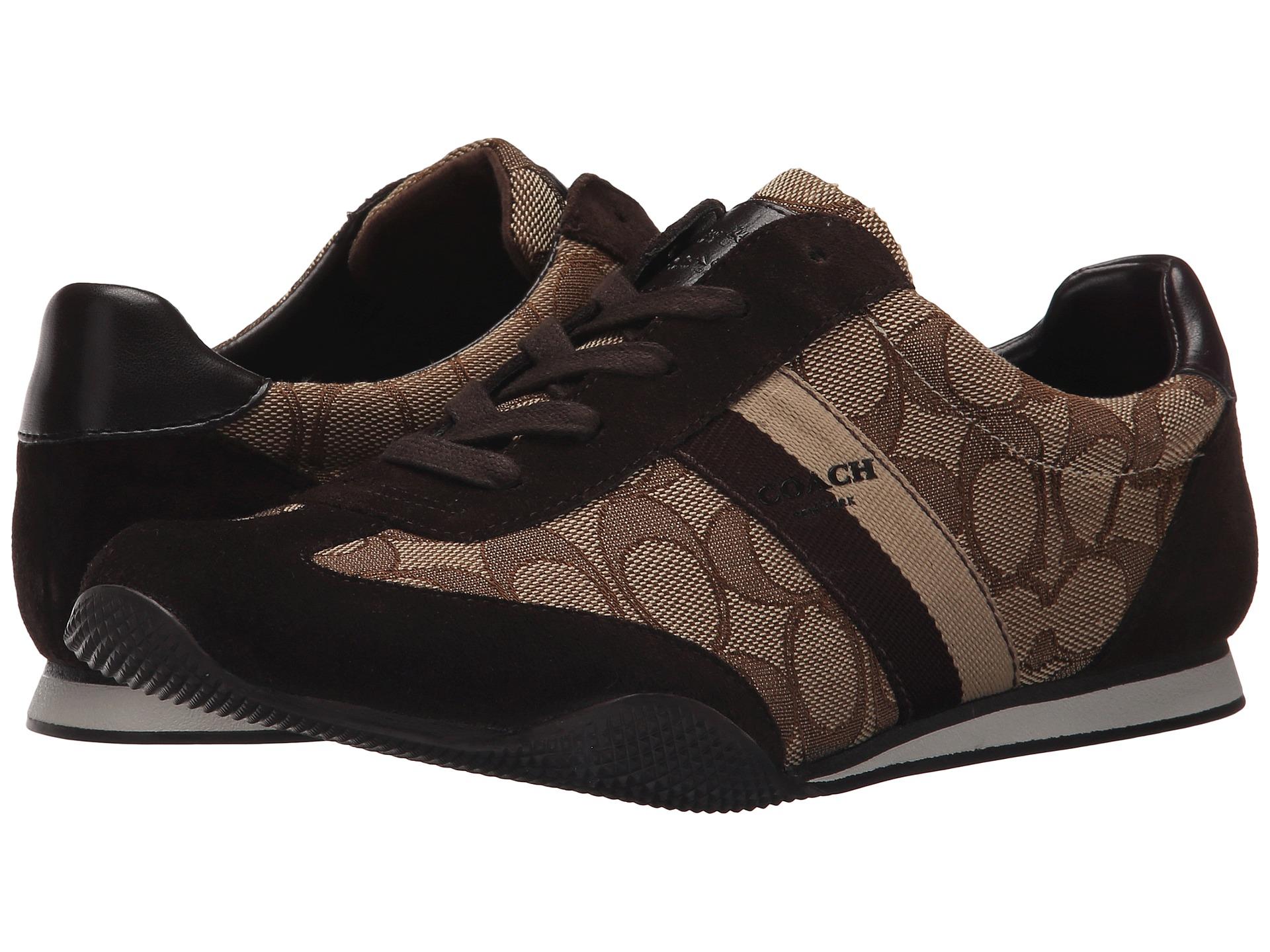코치 켈슨 아웃라인 스니커즈 시그니처 카키 스웨이드 COACH Kelson Outline Sneakers Khaki Chestnut Sig Suede