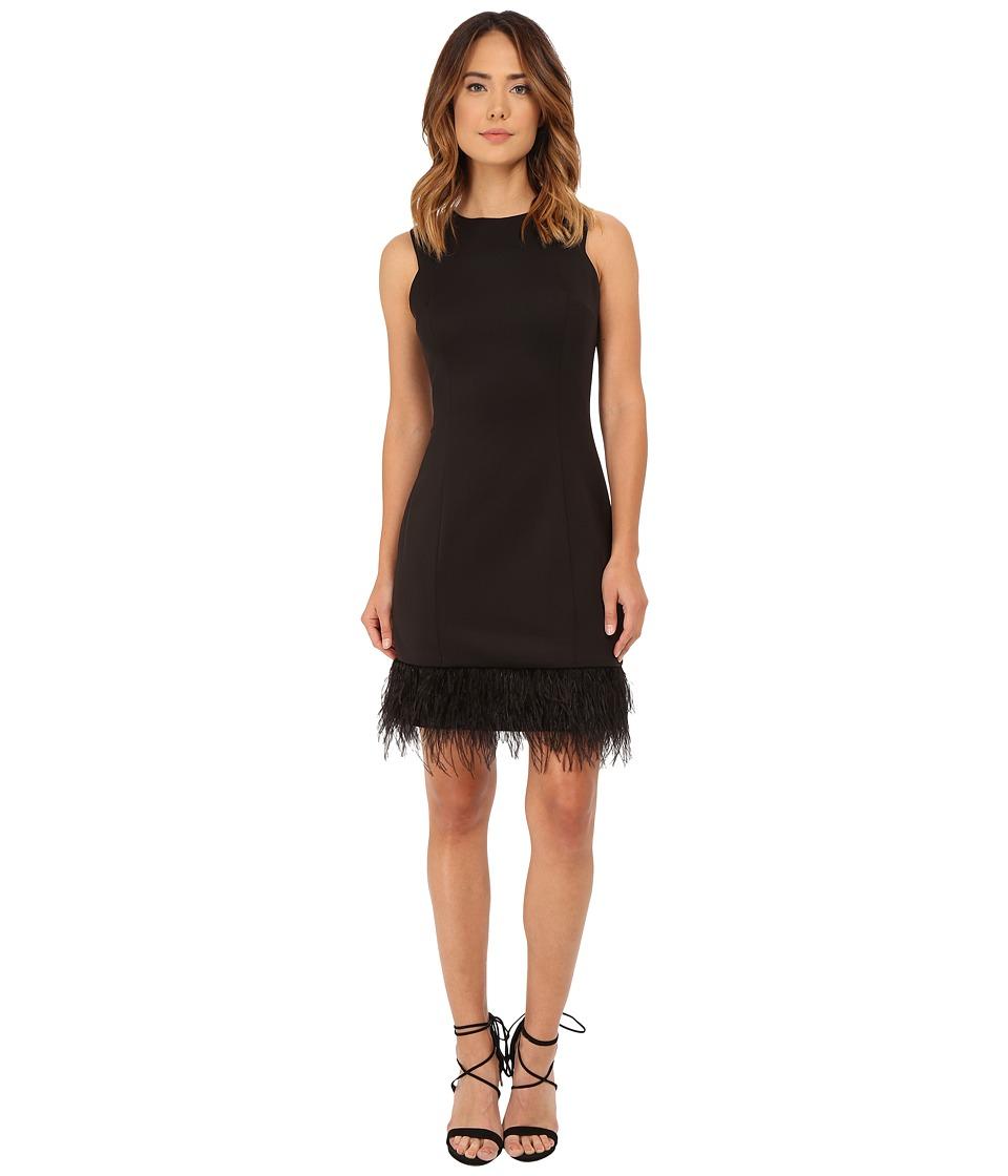 rsvp Anna Feather Trim Dress Black Womens Dress