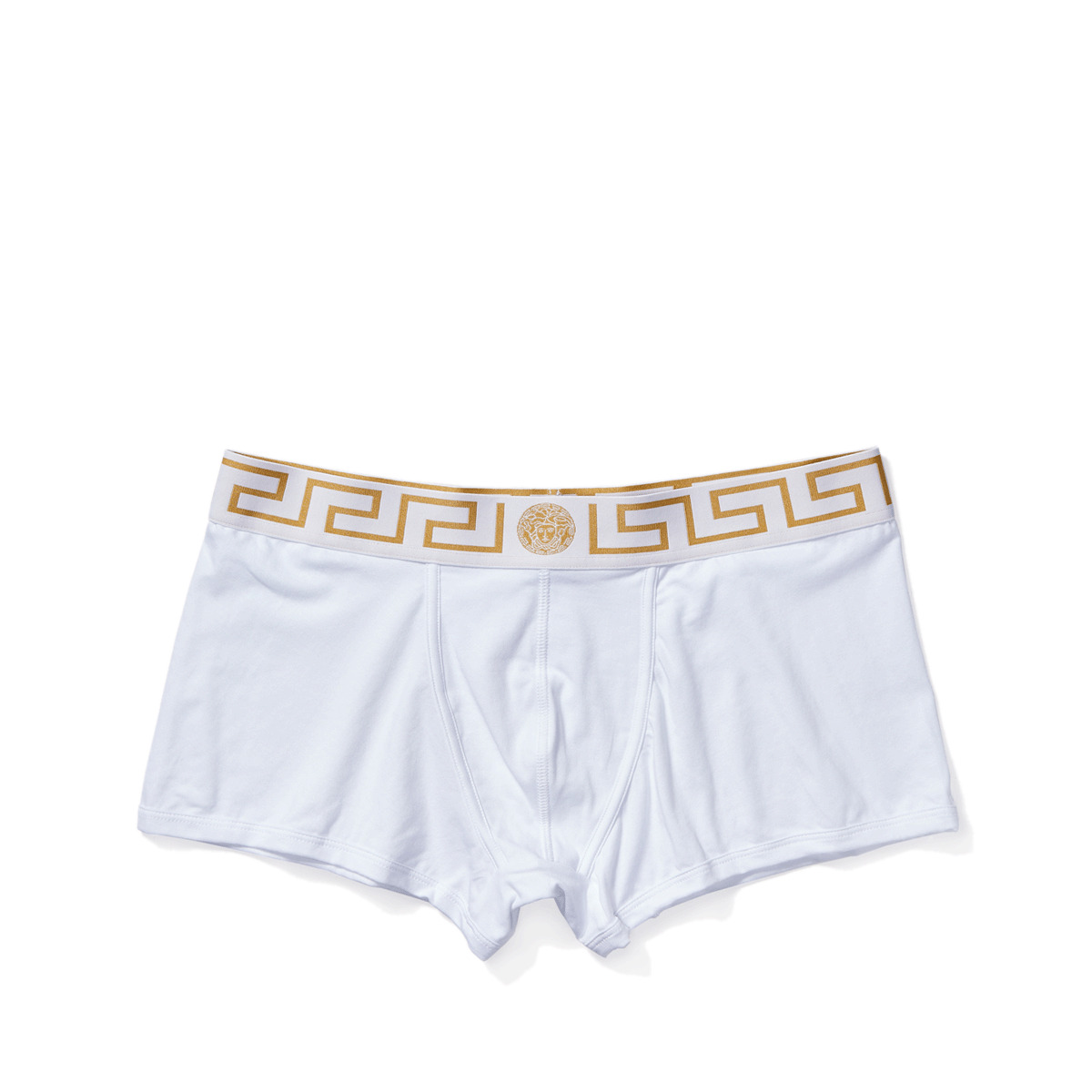 Versace - Iconic Boxer Brief with White and Gold Band