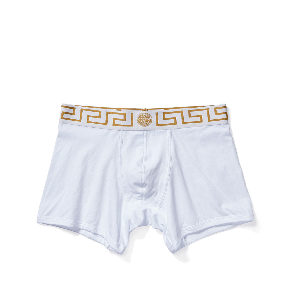 Versace - Iconic Long Boxer Brief with White and Gold Band