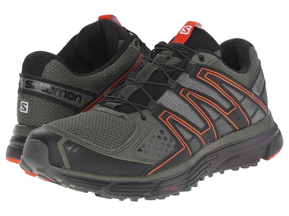 Salomon - X-Mission 3 (Night Forest/Black/Solar Orange) Mens Shoes