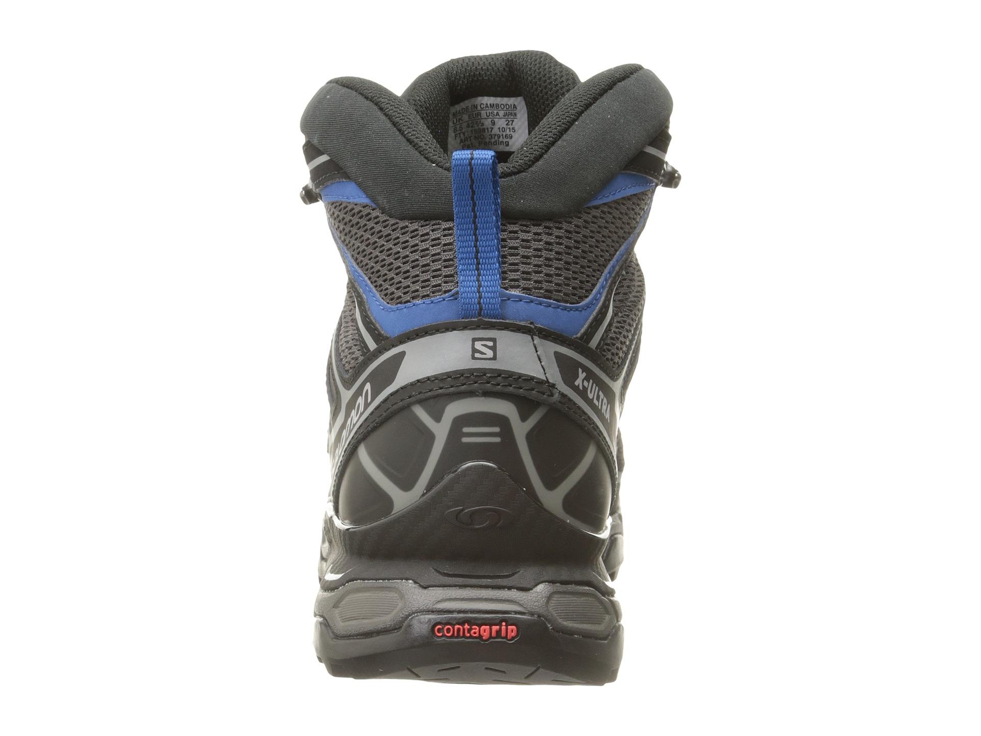 Salomon x ultra mid aero w botas de senderismo mujer - titanium/swamp/opaline blue