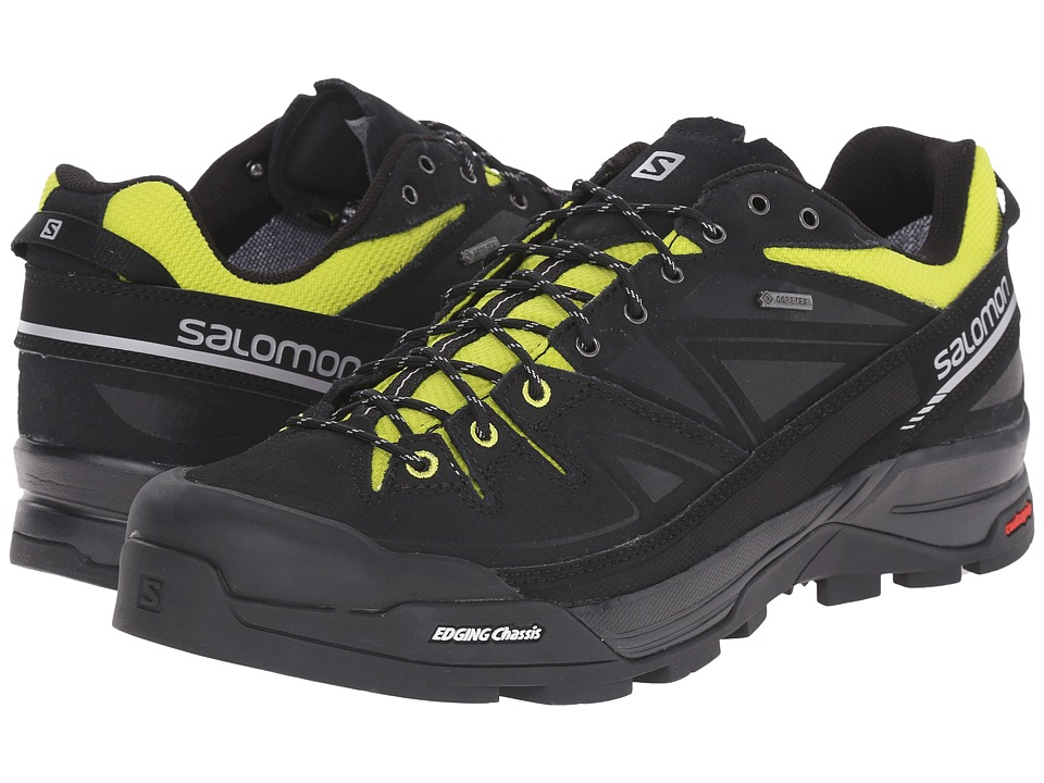 Salomon X Alp LTR GTX(r) (Black/Gecko Green/Aluminium) Men