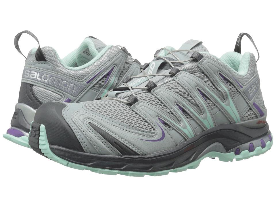 Salomon XA Pro 3D (Light Onix/Light Onix/Igloo Blue) Women's Running Shoes
