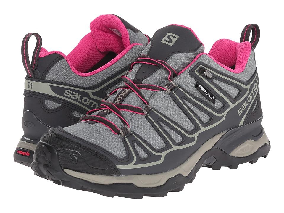 Salomon - X Ultra Prime CS WP (Light TT/Asphalt/Hot Pink) Womens Shoes