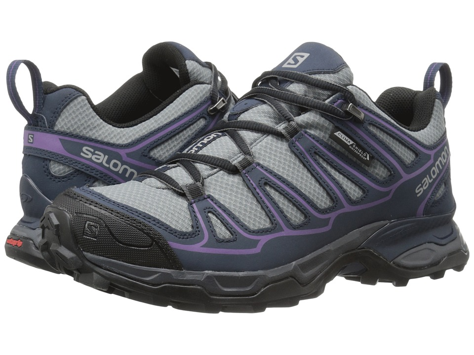 Salomon - X Ultra Prime CS WP (Pearl Grey/Deep Blue/Rain Purple) Womens Shoes