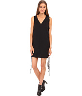Vera Wang - Tuxedo Lace Up Sleeveless Dress