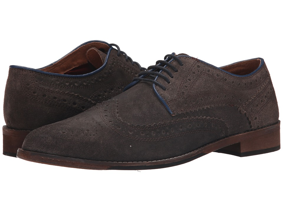 Lotus Anton Grey Mens Lace Up Wing Tip Shoes