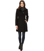 Via Spiga - Stand Collar Wool Coat w/ Buttons