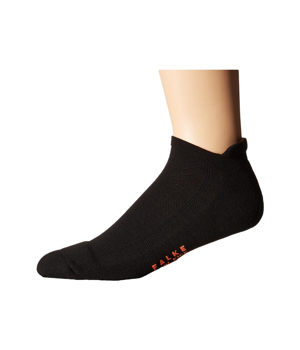 Falke Cook Kick Sneaker Socks Black Mens No Show Socks Shoes