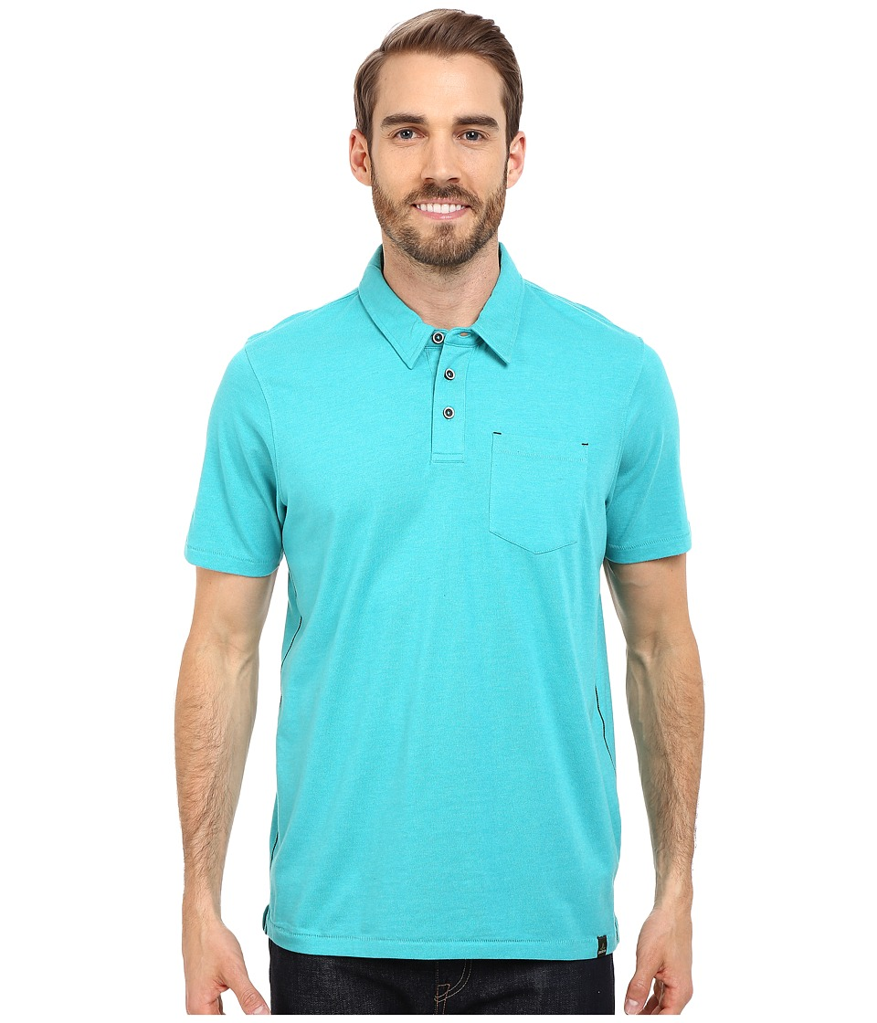 Prana Marco Polo Tidal Teal Heather Mens T Shirt