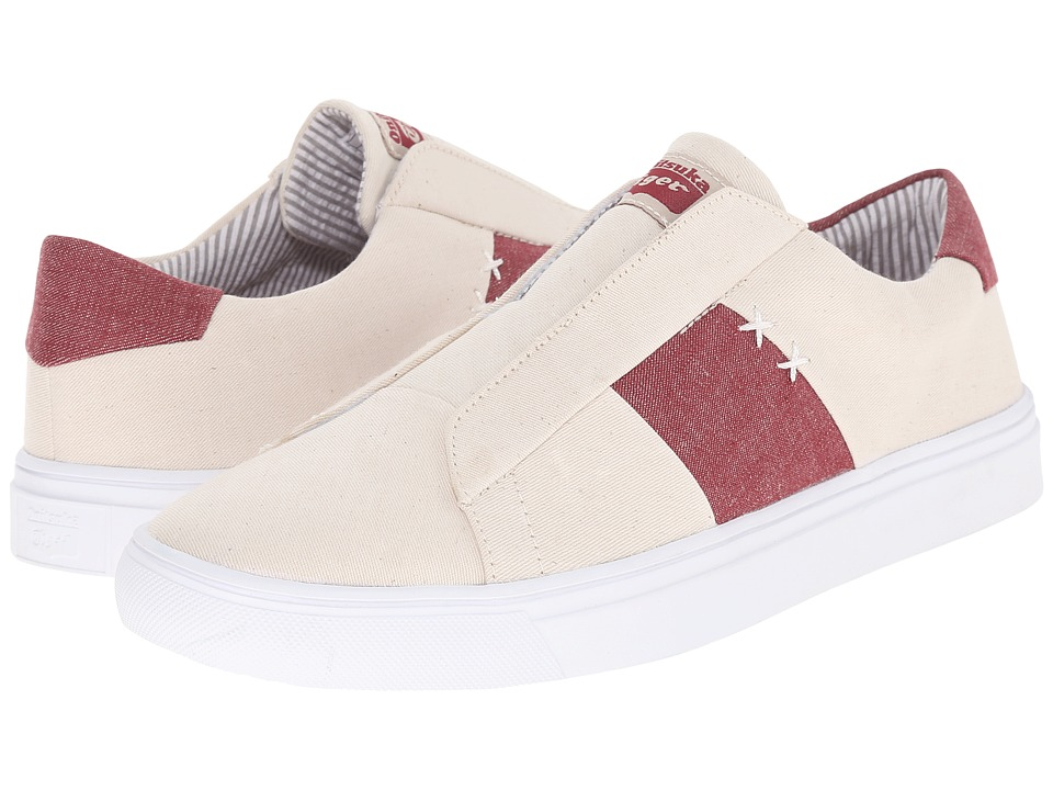 Onitsuka Tiger by Asics Appian Off White/Burgundy Shoes