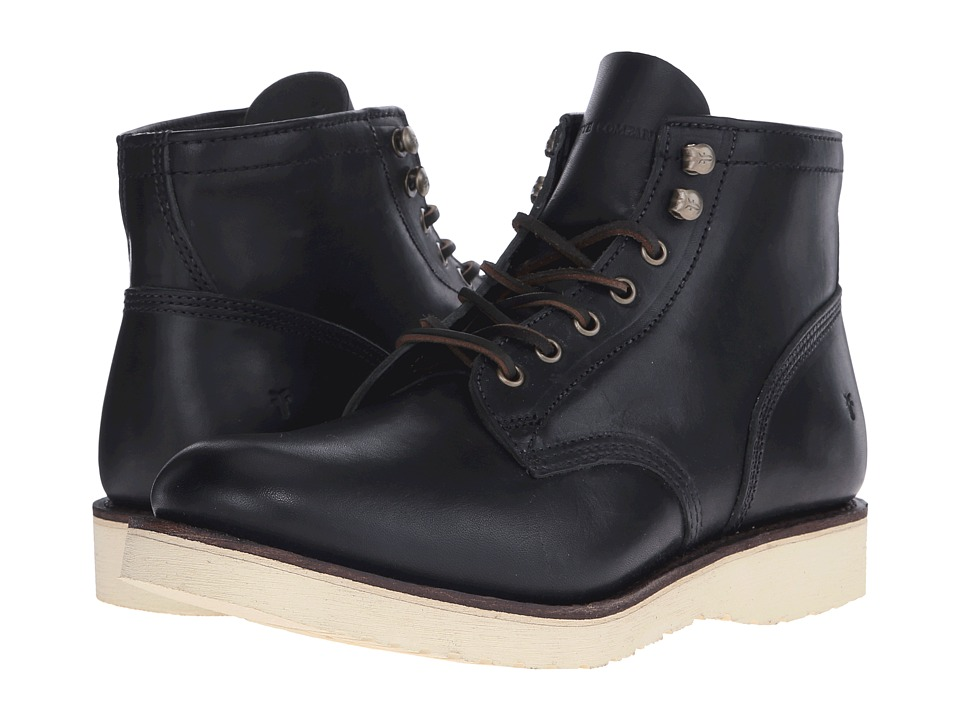 Frye - Freeman Midlace (Black Vintage Pull-Up) Men