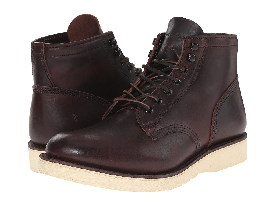 Frye - Freeman Midlace (Redwood Vintage Pull-Up) Men