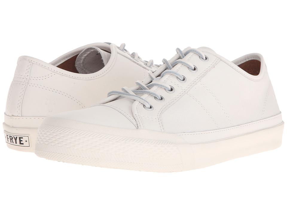 Frye - Greene Low Lace (White Matte Leather) Men