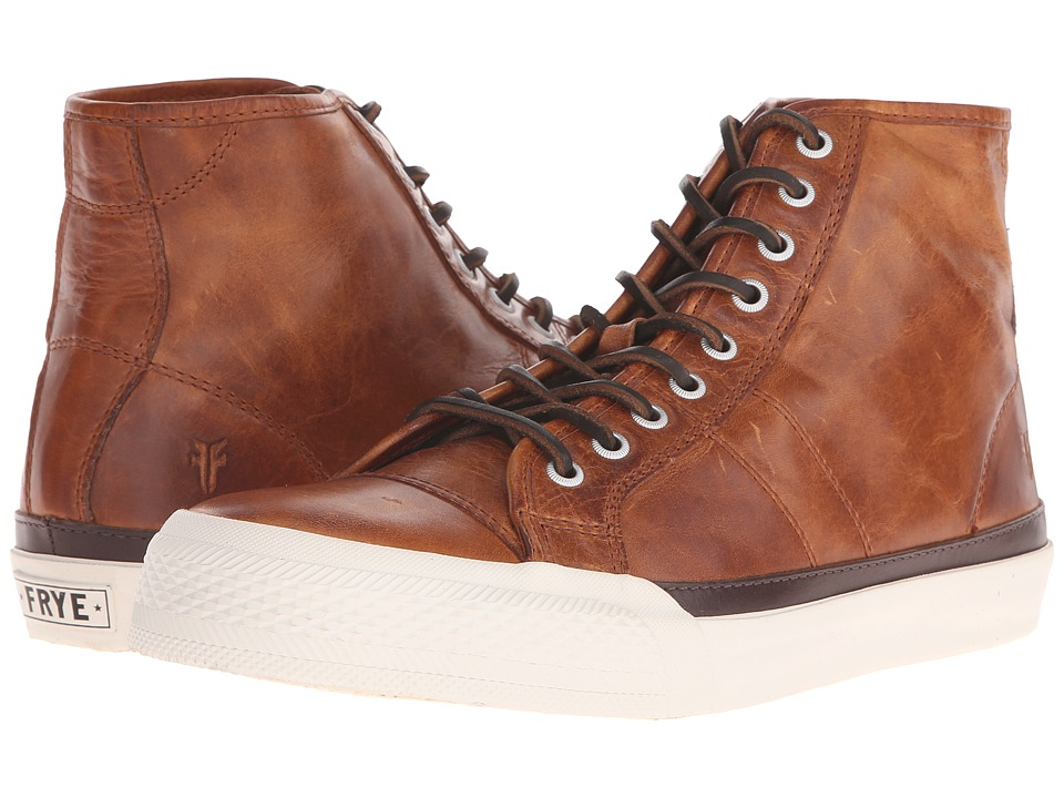 Frye Greene Tall Lace (Cognac Antique Pull-Up) Men