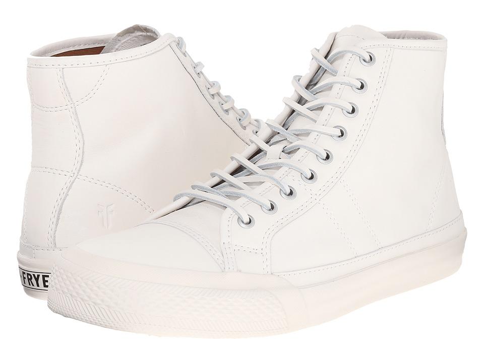 Frye - Greene Tall Lace (White Matte Leather) Men