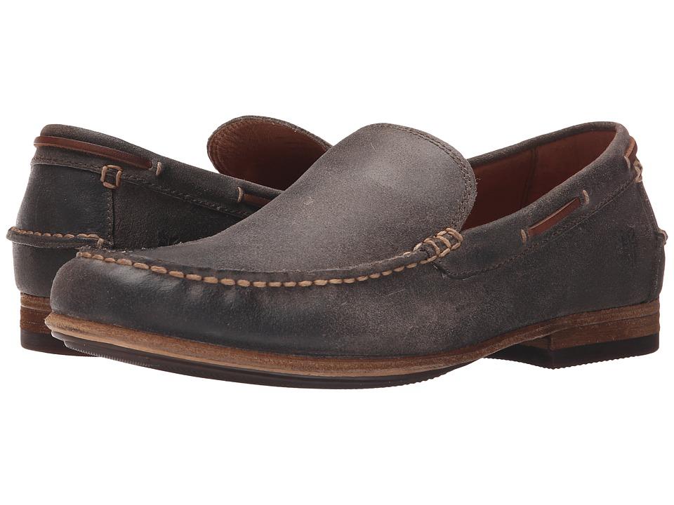 Frye - Henry Venetian (Charcoal Waxed Vintage Leather) Men
