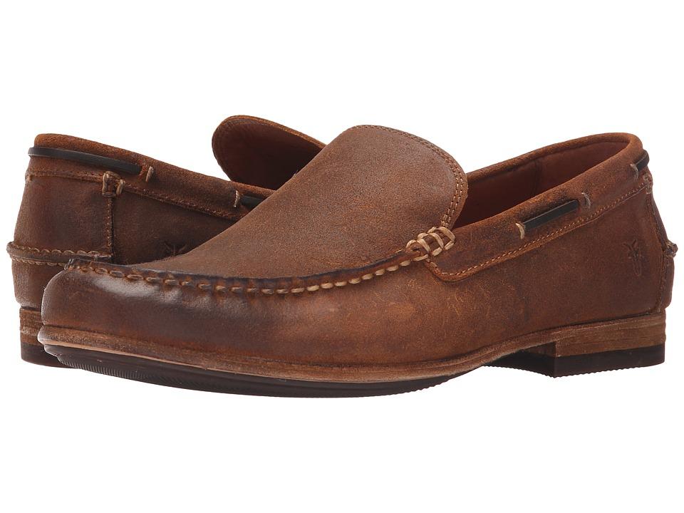 Frye - Henry Venetian (Tan Waxed Vintage Leather) Men