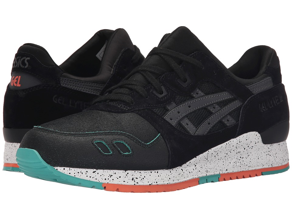 ASICS Tiger Gel Lyte III Black/Black Crackled Suede/Nubuck Classic Shoes