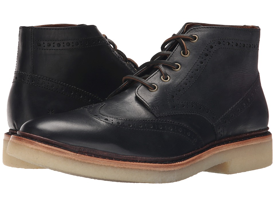 Frye - Luke Wingtip Chukka (Black Vintage Veg Tan) Men