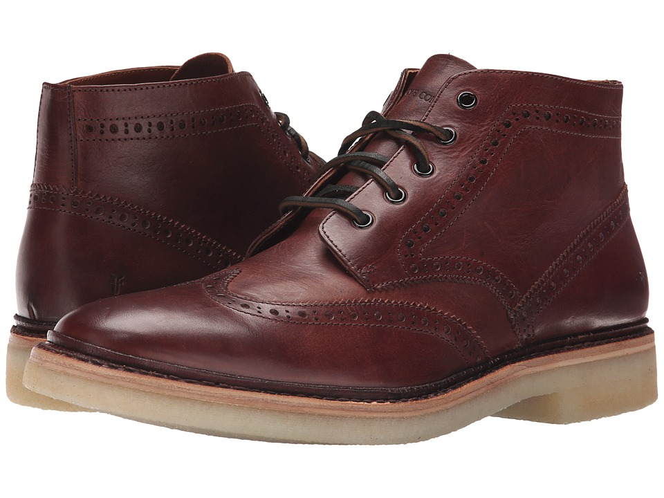 Frye - Luke Wingtip Chukka (Brown Vintage Veg Tan) Men