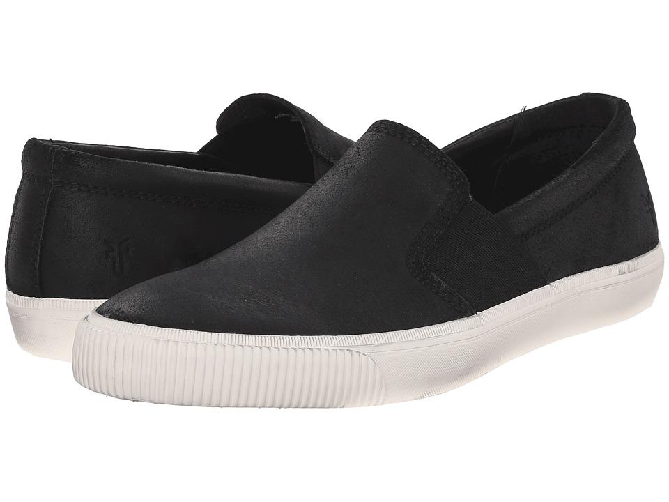 Frye - Miller Slip-On (Black Waxed Vintage Leather) Men