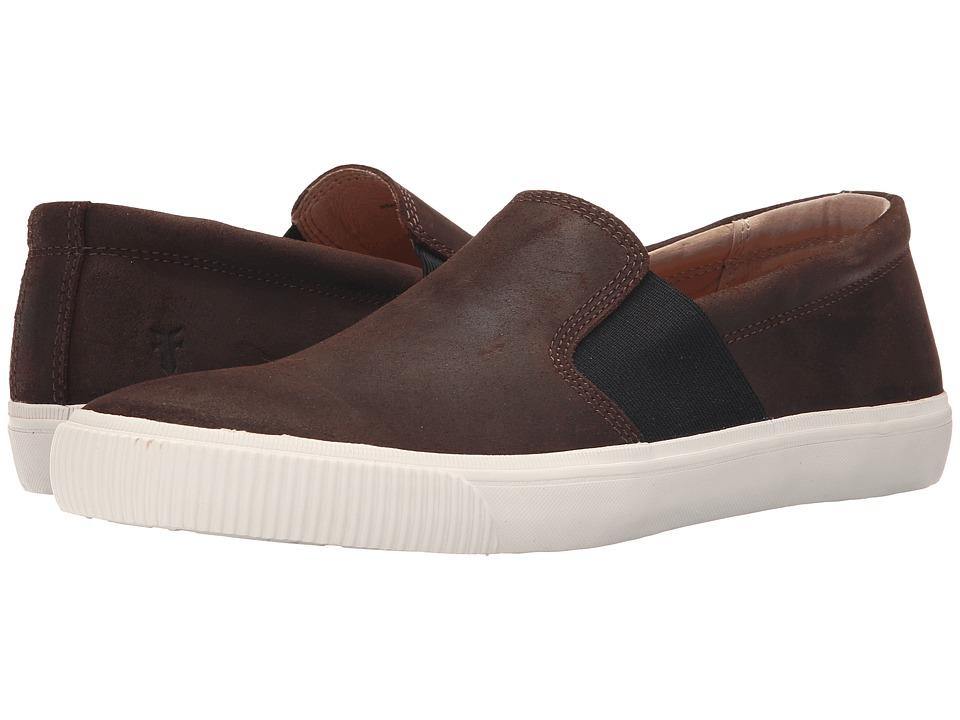 Frye - Miller Slip-On (Dark Brown Waxed Vintage Leather) Men
