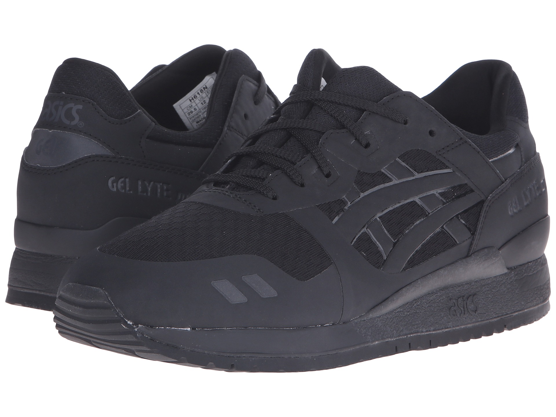 asics gel lyte iii ns  black  white