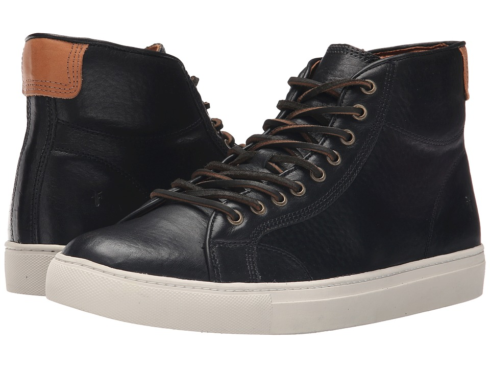 Frye - Walker Midlace (Black Tumbled Full Grain) Men's Lace up casual Shoes