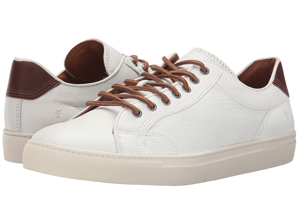 Frye - Walker Low Lace (White Soft Full Grain Leather) Men's Lace up casual Shoes