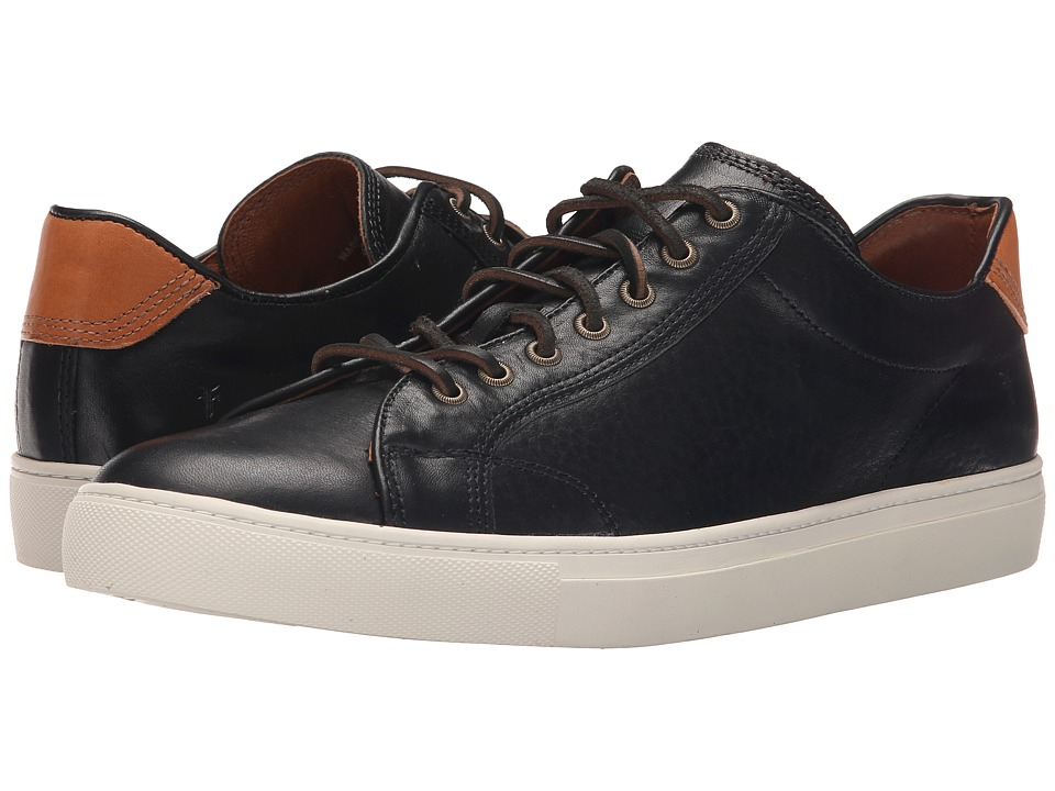 Frye - Walker Low Lace (Black Tumbled Full Grain) Men's Lace up casual Shoes