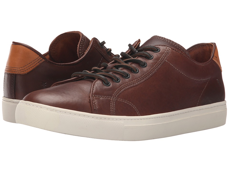 Frye - Walker Low Lace (Redwood Tumbled Full Grain) Men's Lace up casual Shoes