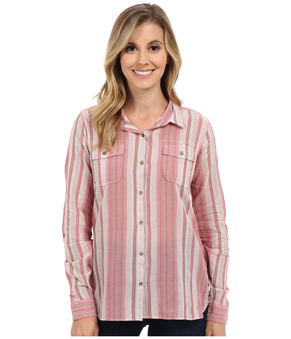 ToadampCo Airbrush L/S Shirt Sorbet Stripe Womens Long Sleeve Button Up
