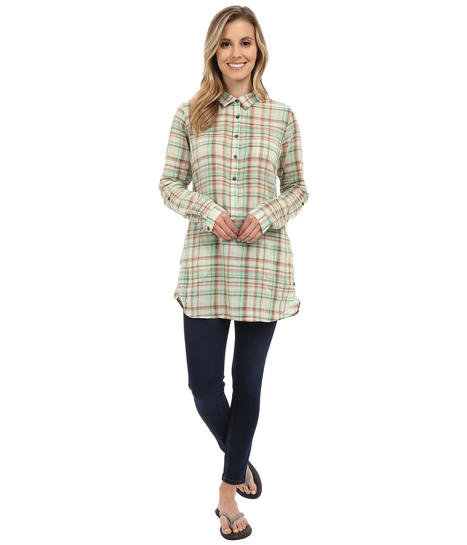 ToadampCo Airbrush Tunic Pistachio Womens Long Sleeve Button Up