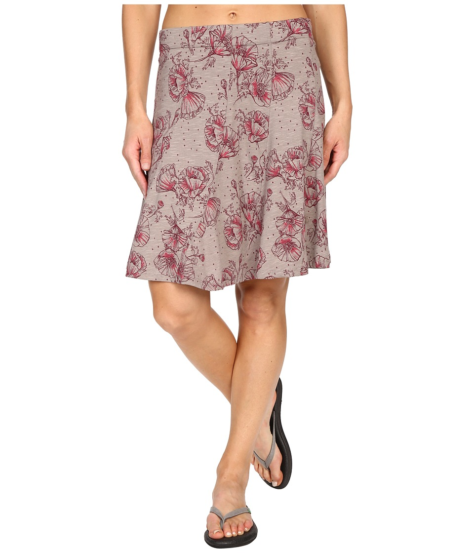 ToadampCo Chachacha Skirt Cocoa Poppy Print Womens Skirt