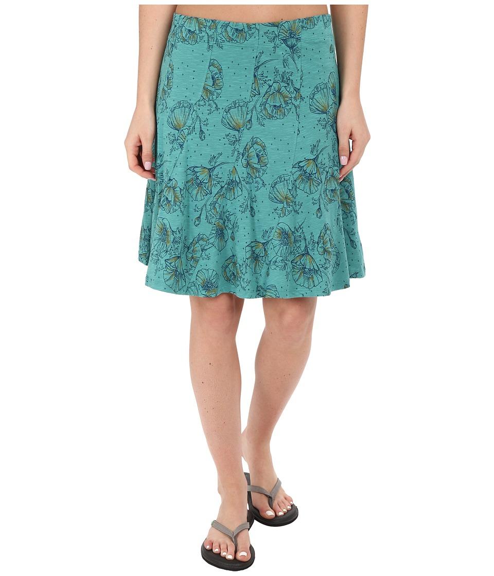 ToadampCo Chachacha Skirt Dark Turquoise Print Womens Skirt