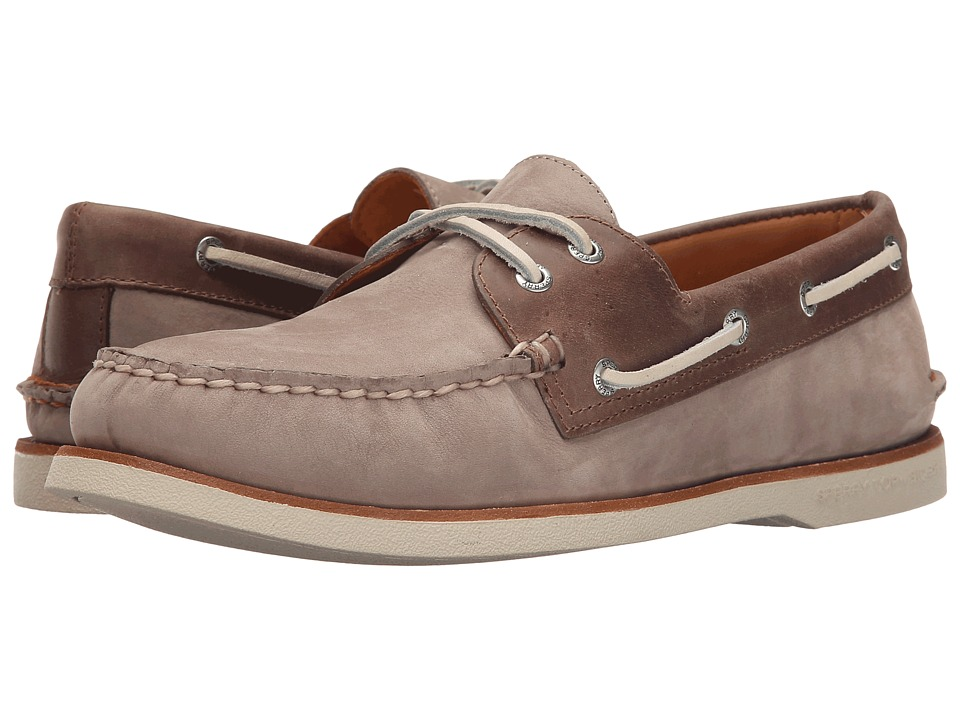 Sperry Top-Sider - Gold A/O 2-Eye Nubuck (Taupe/Brown) Men